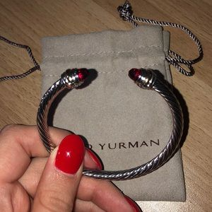 Authentic David Yurman 5mm cable bracelet red
